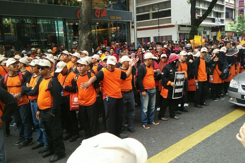 Around 2,000 protesters gathered in front of the Merdeka Square in Kuala Lumpur.