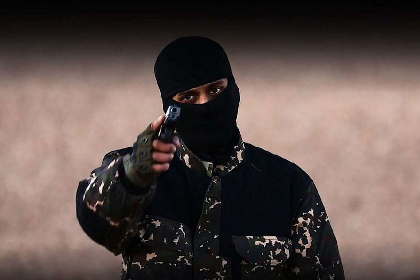 An ISIS militant speaks to the camera in a screenshot from one of the extremist group's videos.