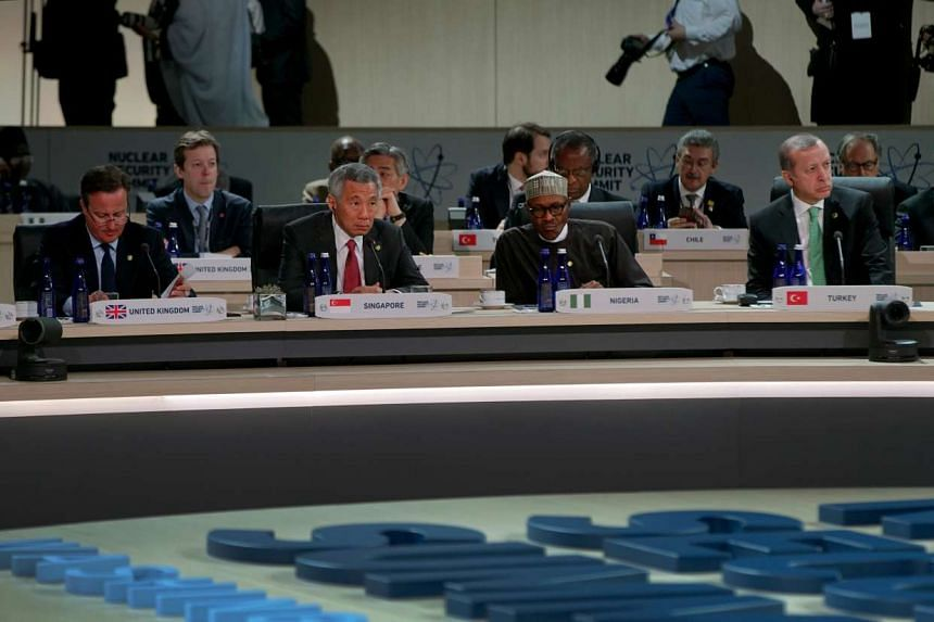 PM Lee attending the Nuclear Security Summit in Washington.