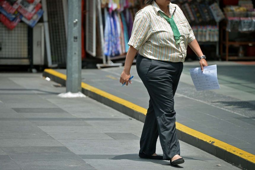 The last National Health Survey in 2010 found that 11 per cent of adults here aged between 18 and 69 were obese, up from 7 per cent in 2004.