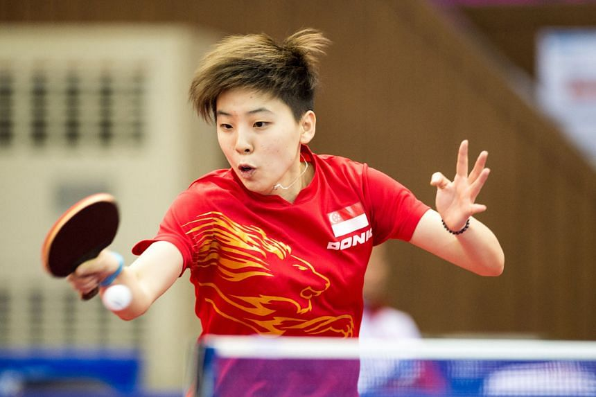 Zhou Yihan at the Incheon Asian Games in 2014, a year after she became a Singapore citizen. The world No. 52 no longer has the official backing needed for a scholarship earmarked for the Republic's elite athletes.