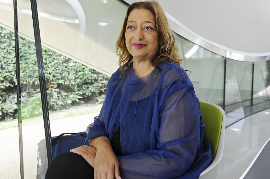 Architect Zaha Hadid inside the newly constructed Serpentine Sackler Gallery in London in 2013.