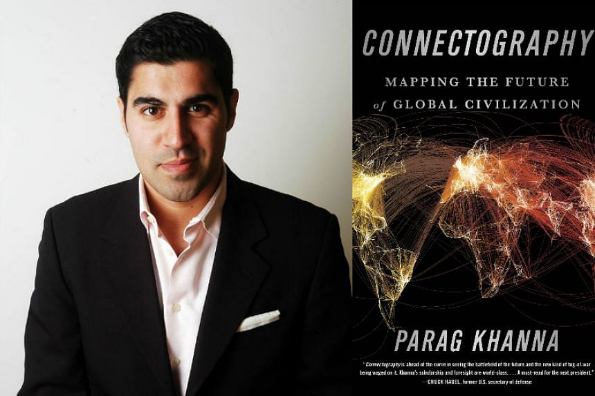 Parag Khanna (left) and his new book Connectography.