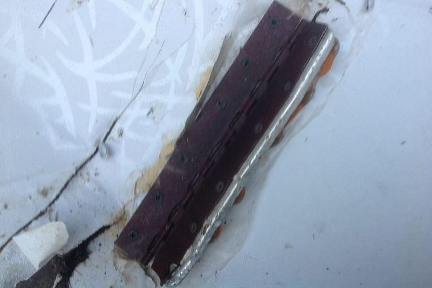 A photograph of an object believed to be wreckage from the missing Malaysia Airlines (MAS) flight MH370.