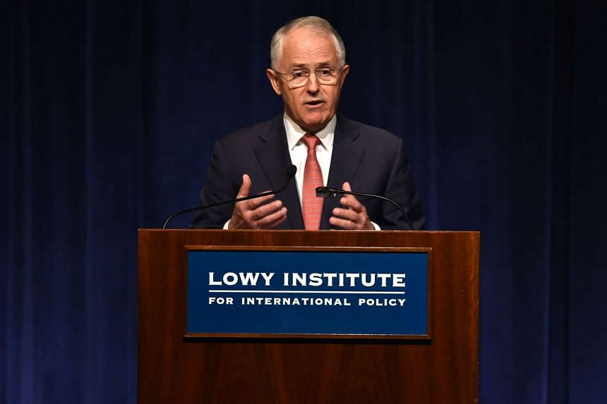 Australian Prime Minister Malcolm Turnbull (above) has said that Australia opposes Donald Trump's suggestion than Japan and South Korea should develop nuclear weapons.