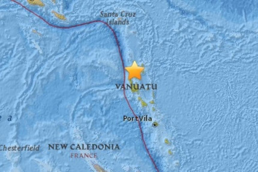 A magnitude-6.9 earthquake struck off the coast of the South Pacific islands of Vanuatu on April 3, 2016.