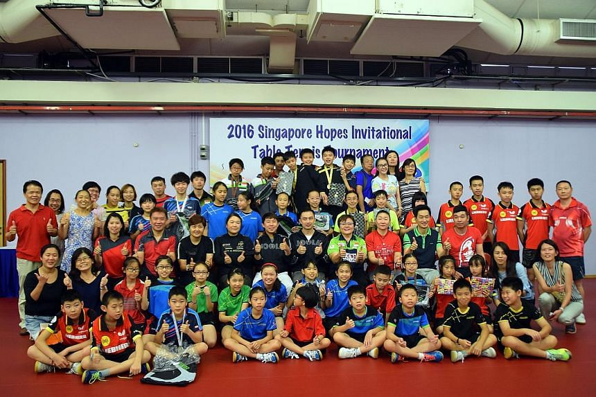 Some 40 young paddlers from Malaysia, Japan, Hong Kong, China and Singapore participated in the inaugural Singapore Hopes Invitational Table Tennis tournament held at the headquarters of the Singapore Table Tennis Association in Toa Payoh over the we