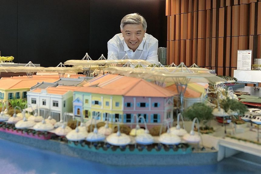 """CapitaLand Mall Trust Management CEO Wilson Tan says that """"there are many opportunities before us, but we are also facing plenty of challenges. We need to evolve and grow constantly""""."""