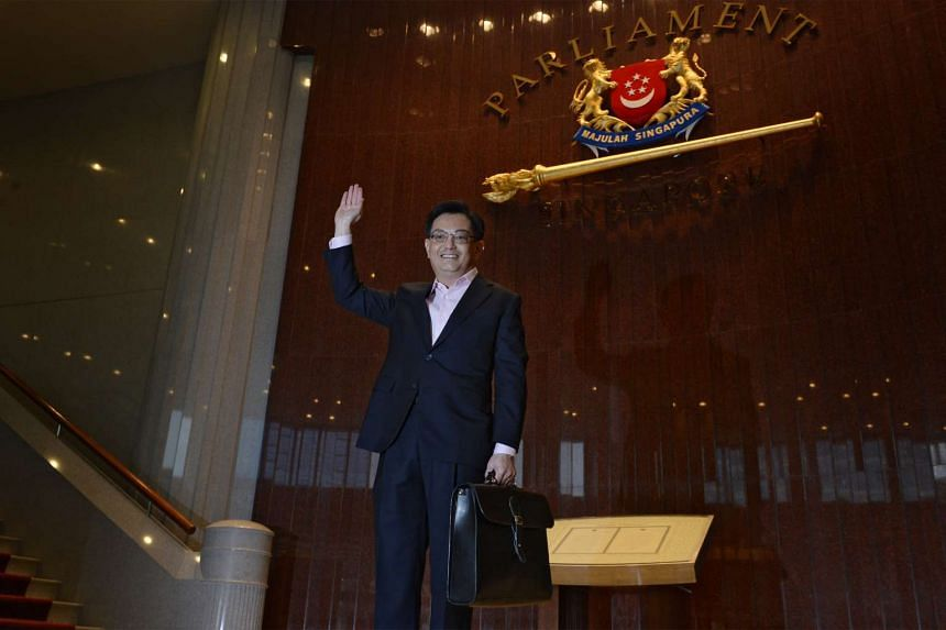 Finance Minister Heng Swee Keat at Parliament House on March 24, 2016, to present the Budget statement. Parliament will sit for nine days from April 4 to debate the Budget.