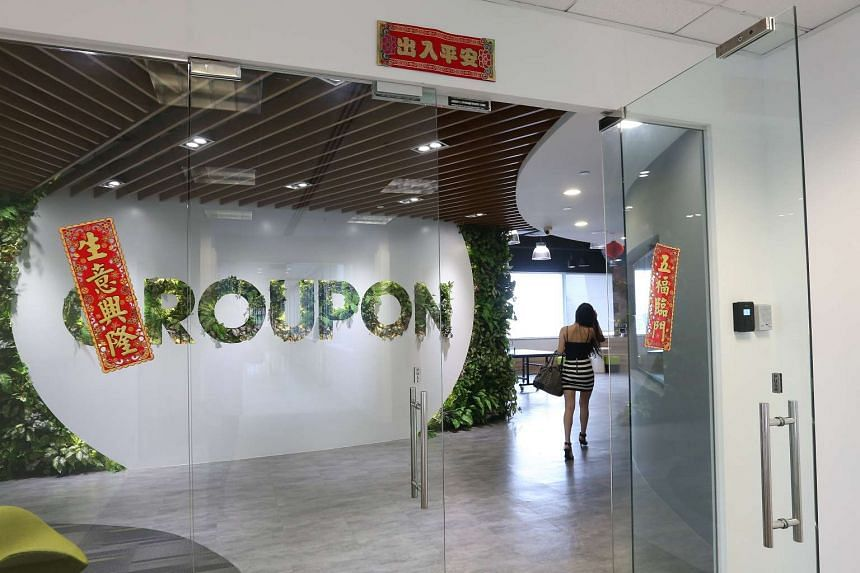 The Groupon Singapore office located at UE Square in Clemenceau Avenue.