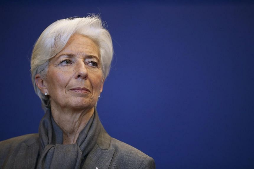 IMF managing director Christine Lagarde attends a news conference after a seminar on the international financial architecture in Paris.