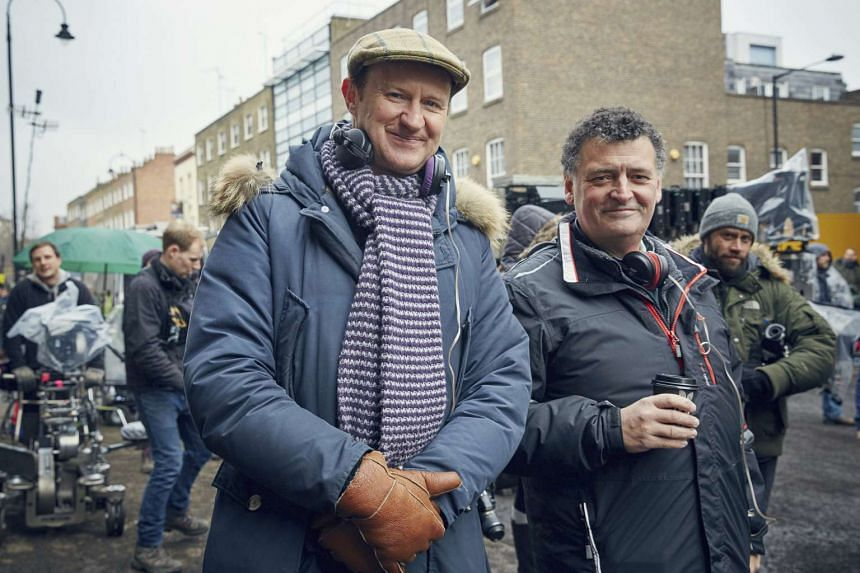 Mark Gatiss (above left) and Steven Moffat, the co-creators and writers of BBC TV drama Sherlock.