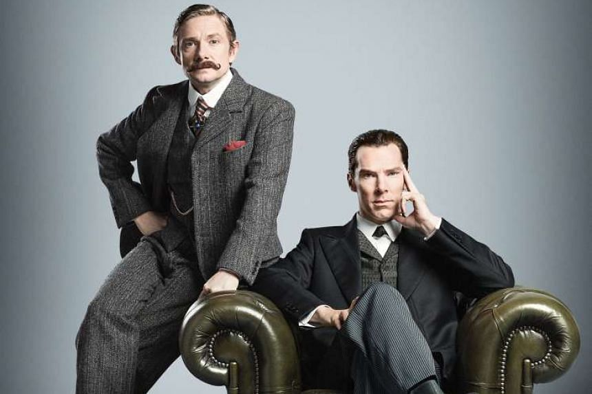 The series stars Martin Freeman (left) as Dr John Watson and Benedict Cumberbatch (right) as Sherlock Holmes.