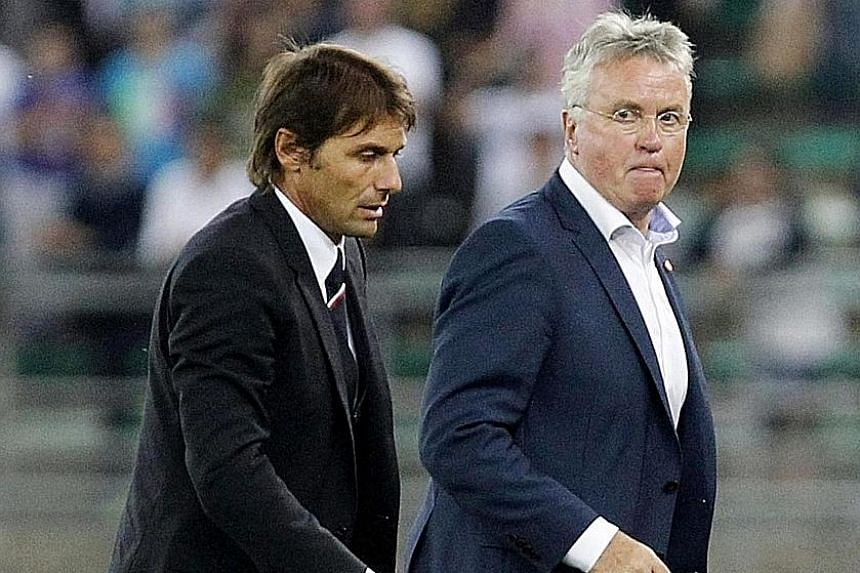 Chelsea interim coach Guus Hiddink will hand over the Stamford Bridge reins to former Juventus coach Antonio Conte after this season. The Italian hopes to repeat his Serie A-winning exploits.