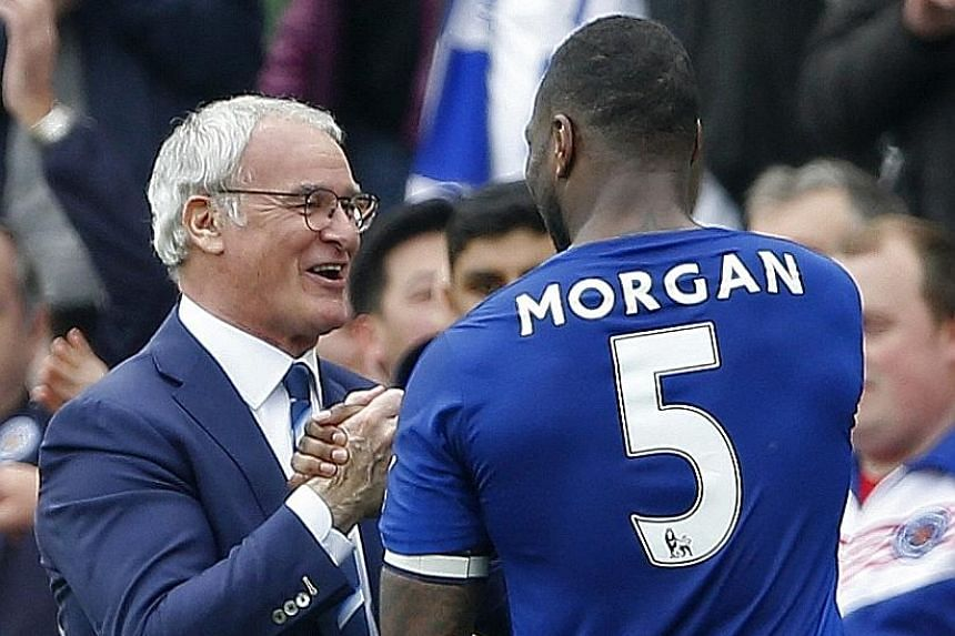 Leicester City manager Claudio Ranieri and his captain Wes Morgan are leading the Foxes in making small but strident steps towards the league's end. With six games left, they have a seven-point breathing space at the top.