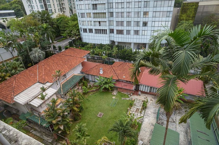 This house at 9, Cuscaden Road owned by the descendants of famous philanthropist Tan Tock Seng is up for sale, with offers expected in the range of $160 million to $170 million. Named Villa Marie in tribute to Marie Windsor, second wife of Mr Tan's g