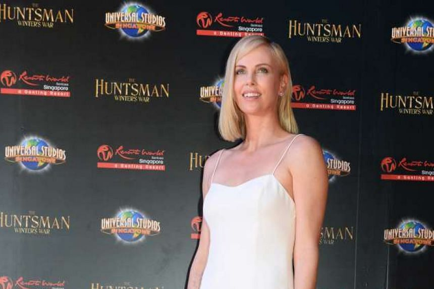 Charlize Theron at the red carpet premiere of The Huntsman: Winter's War at Universal Studios Singapore on April 4, 2016.