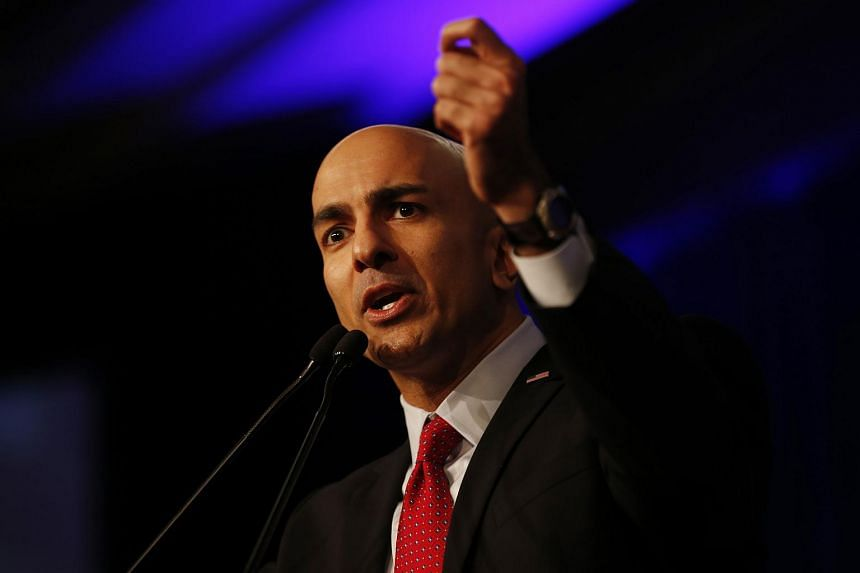 Minneapolis Federal Reserve president Neel Kashkari speaking at the California Republican Party Spring Convention on March 16, 2014.