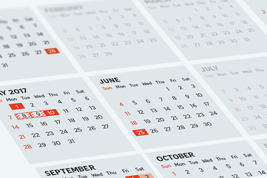 Seven of the 11 public holidays in 2017 will fall on a Friday, Sunday or Monday.