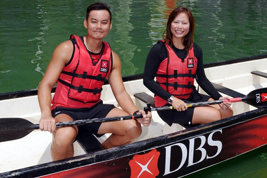 DBS Asia Dragons women's team captain Jolynn Wong along with men's team captain Ronald Ng, will be relishing racing alongside foreign teams at the revamped DBS Marina Regatta.