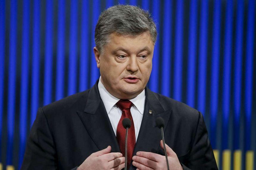 Ukrainian President Petro Poroshenko at a news conference in Kiev on Jan 14, 2016.