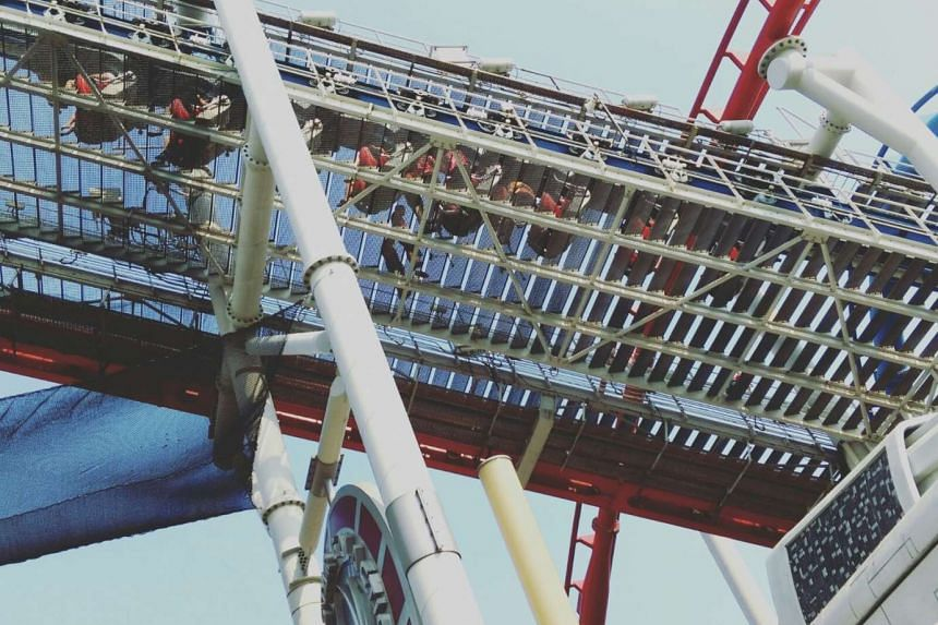The Battlestar Galactica roller coaster was stuck with people aboard the ride.