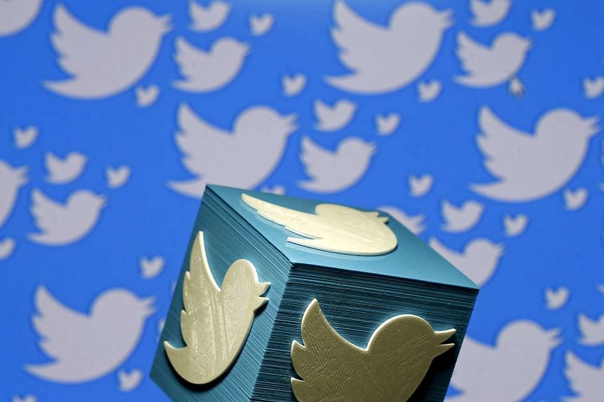 A 3D-printed logo for Twitter is seen in this picture illustration made in Zenica, Bosnia and Herzegovina on Jan 26, 2016.