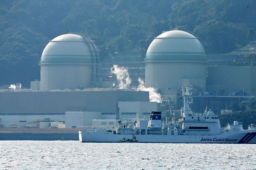 Kansai Electric Power's number 3 and number 4 reactors at the Takahama nuclear plant on Feb 26, 2016.