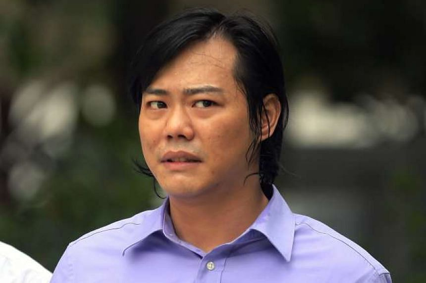Wong Guoliang pleaded guilty to causing grievous hurt with a deadly weapon yesterday.