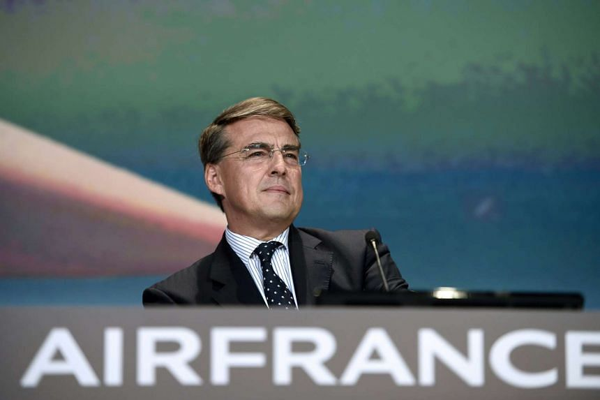 Mr Alexandre de Juniac at the opening of the general assembly of Air France-KLM in Paris on May 21, 2015.