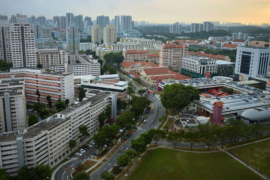 Despite some similarities, Bishan (above) has a 30-year head start on the upcoming Bidadari estate and is home to a bustling shopping mall, a well-connected train network and some of the more prestigious schools in Singapore.