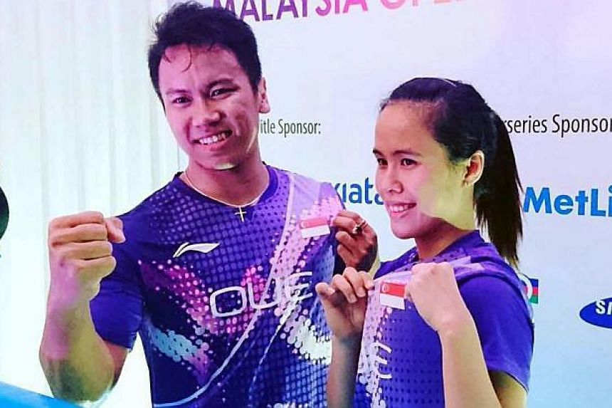 Singapore shuttlers Danny Bawa Chrisnanta and Vanessa Neo (above) upset Praveen Jordan and Debby Susanto of Indonesia at the Malaysia Open.