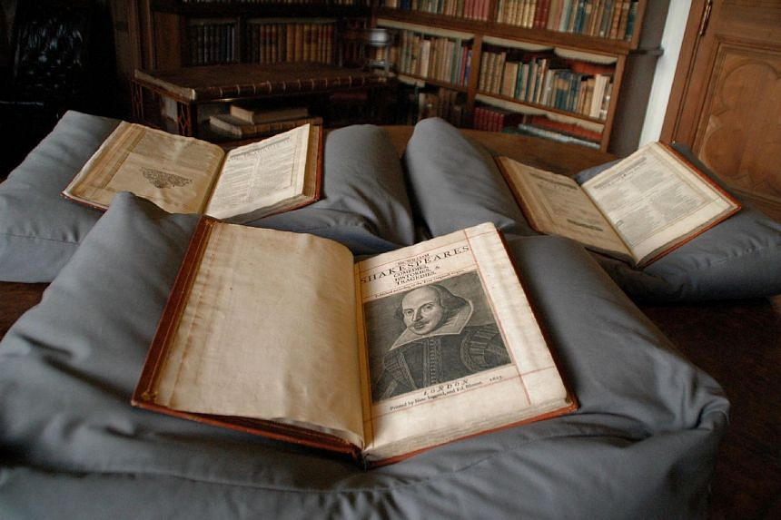 A three-volume work that makes up a newly discovered William Shakespeare First Folio.