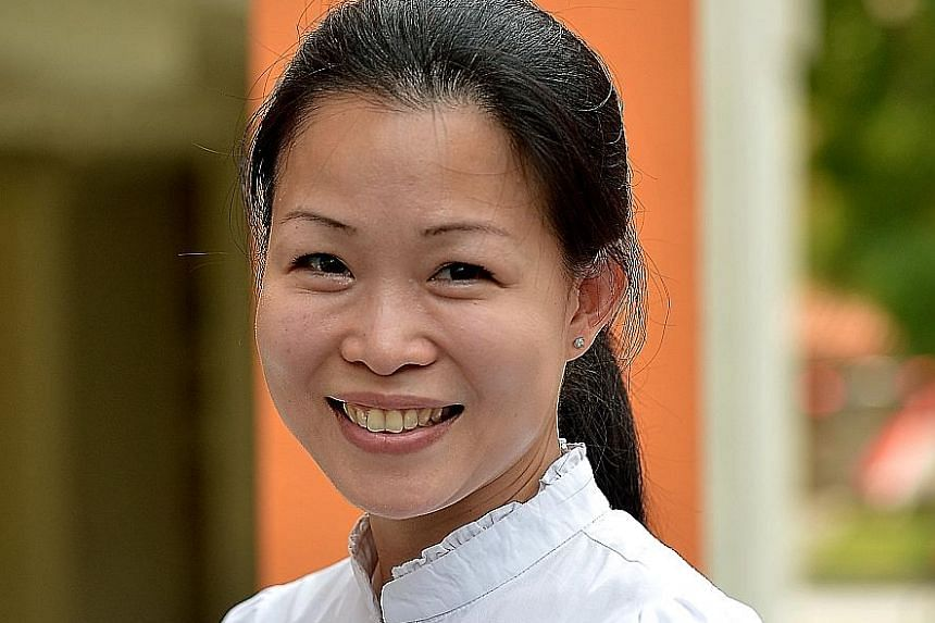 Ms Cheng (Tampines GRC) suggests using robots to do household chores for seniors.