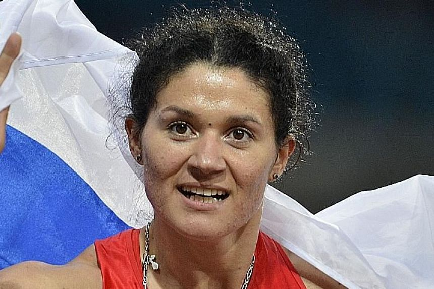 Tatyana Lysenko could face a lengthy ban by the IAAF after testing positive for drugs.
