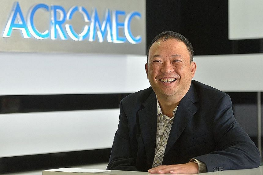 Mr Lim, Acromec's managing director, says one of the engineering company's challenges, and an objective of its IPO launch, is to attract more talents to work on the bigger projects it is gunning for.