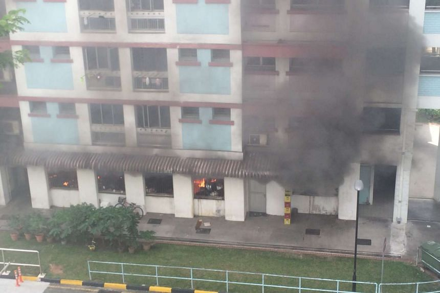 Around 30 people had to be evacuated after a coffee shop in Jurong West caught fire.