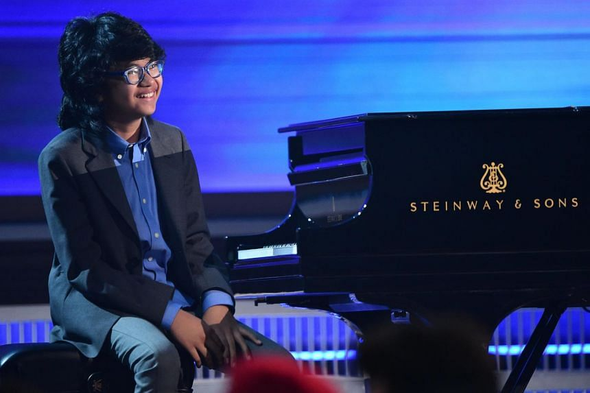 Jazz pianist Joey Alexander performs onstage during the 58th Annual Grammy Awards on Feb 15, 2016.