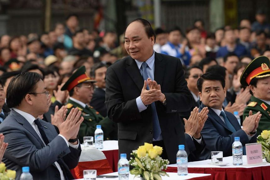 Vietnam's National Assembly approved Mr Nguyen Xuan Phuc (centre) as the country's prime minister on Thursday (April 7).