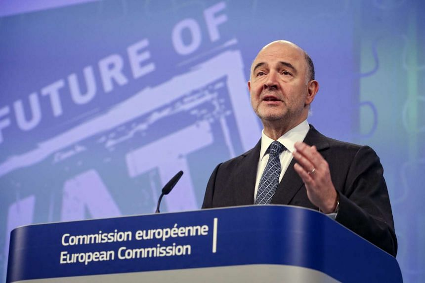 Mr Pierre Moscovici gives a press conference on VAT Action Plan and the so-called Panama Papers leak in Brussels, Belgium on April 7, 2016.