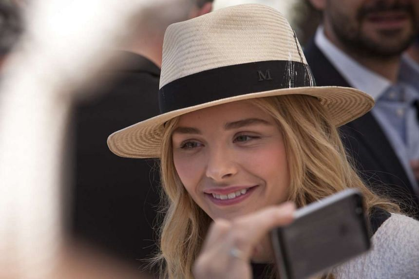 American actress and model Chloe Grace Moretz in a Panama hat, which originates from Ecuador.