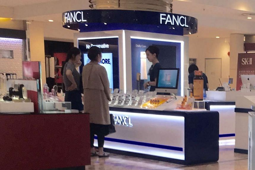 Fancl opened a counter in Isetan Scotts last Friday.