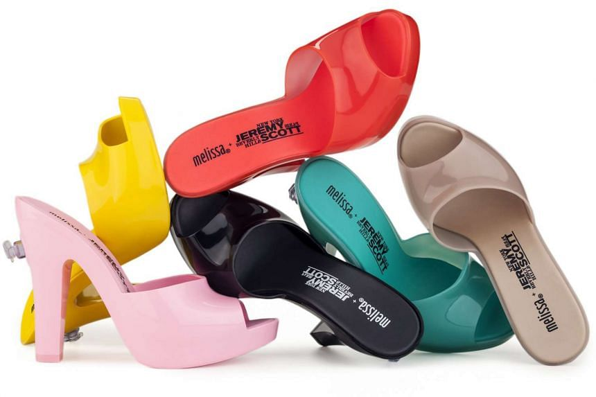 Brazilian plastic footwear brand Melissa is launching its collection (above) with American fashion designer Jeremy Scott of Moschino.