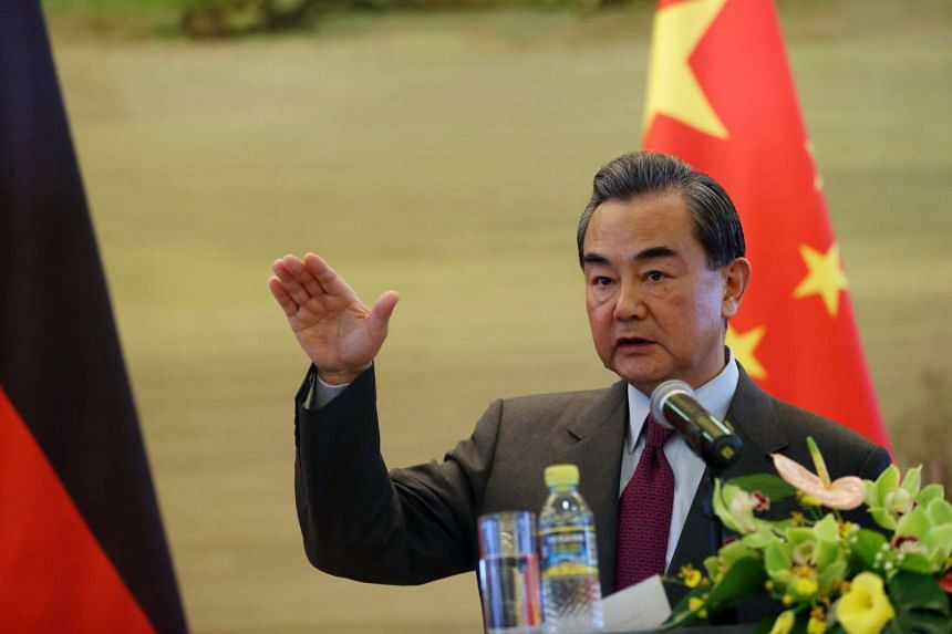 Chinese Foreign Minister Wang Yi said China wanted to make proposals about global economic growth at the G-20 summit.