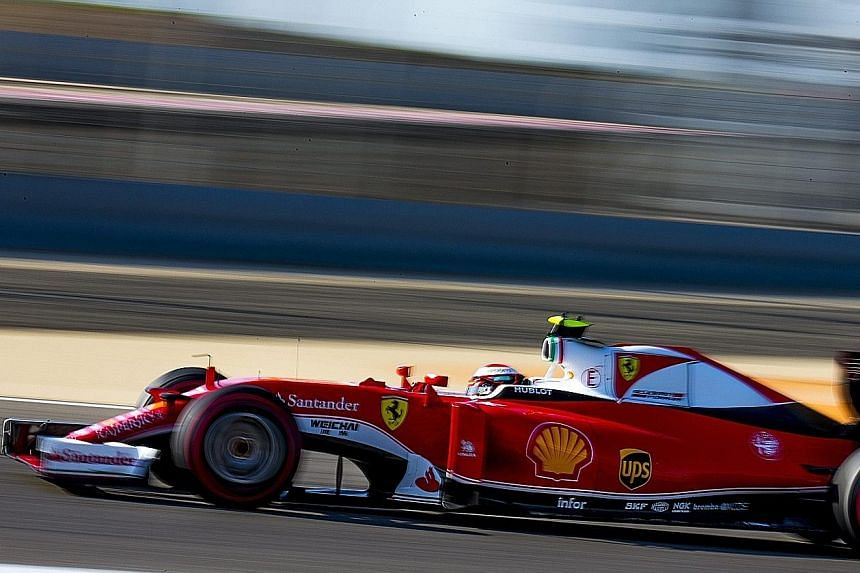 Ferrari's Kimi Raikkonen in action during the third practice session of the Bahrain Grand Prix last Saturday. The Italian team received the biggest portion of last year's Formula One prize pot.