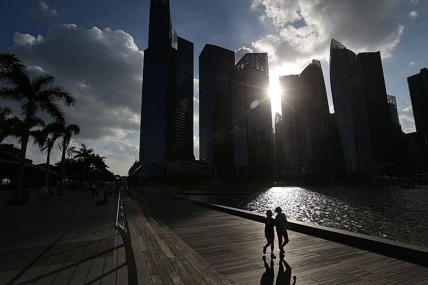 Consultancy DTZ said Marina Bay rents dropped the most by 5 per cent to $11.90 psf per month, while occupancy eased to 93.9 per cent from 94.3 per cent at the end of last year.