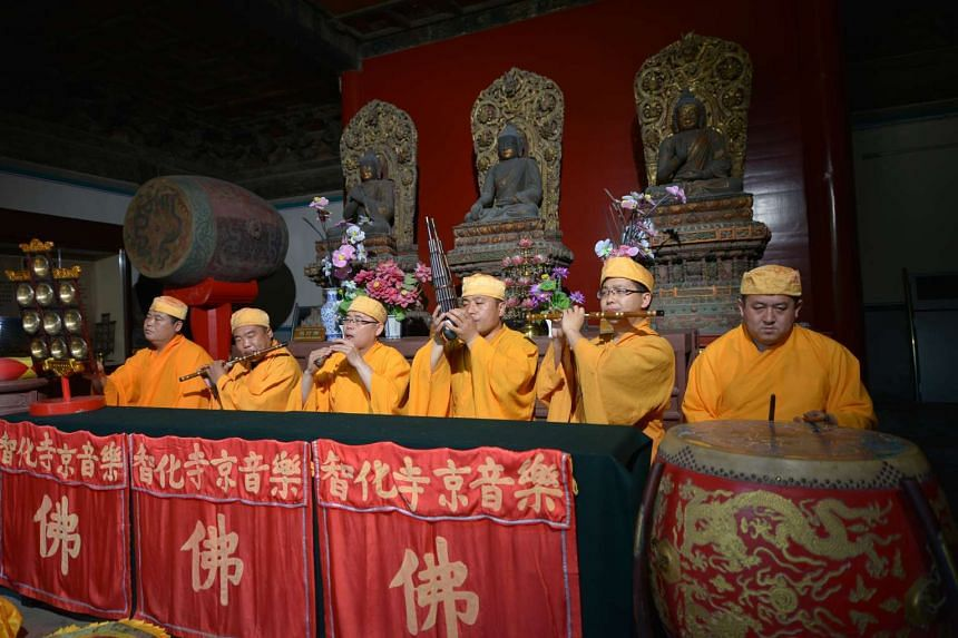 On April 16, the Buddhist Music Ensemble of Zhihua Temple from Beijing brings the sounds of ancient China to the Esplanade Recital Studio.