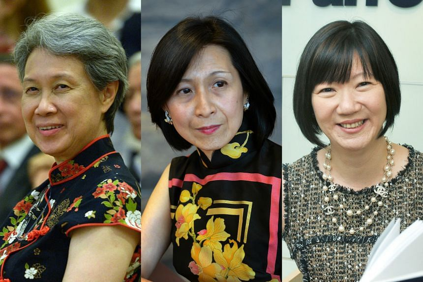 From left: Ms Ho Ching, Ms Chew Gek Khim and Ms May Ng.