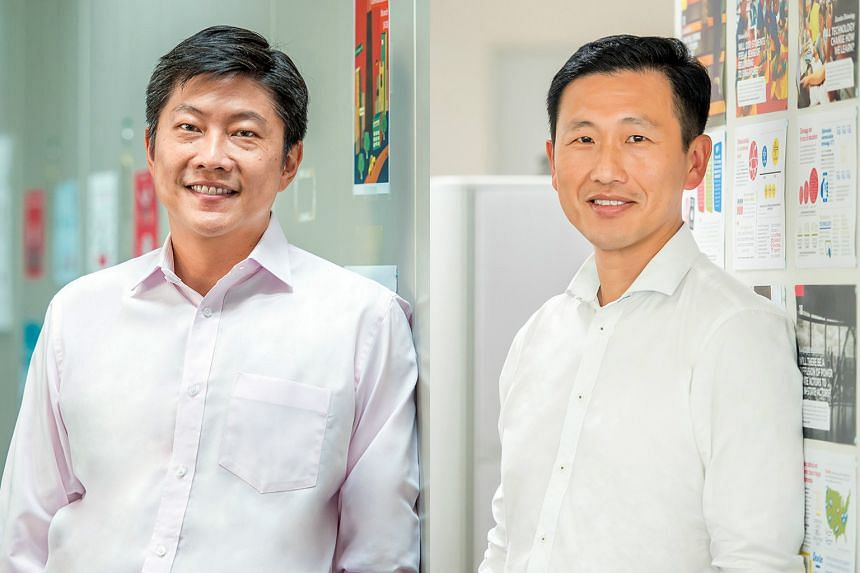 Acting Education Ministers Ng Chee Meng (left) and Ong Ye Kung.