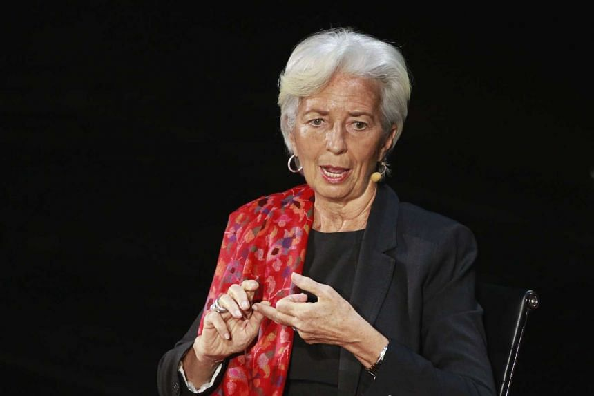 Christine Lagarde speaks during the Women In The World conference inNew York, April 7, 2016.